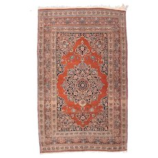 "Fine Antique Tabriz Persian Rug, Hand Knotted, Circa 1910, Size 4'4"" x 6'9"""