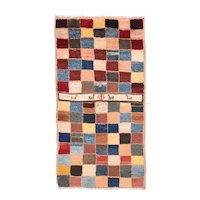 Semi Antique Blue Persian Gabbeh Area Rug Wool Circa 1930, SIZE: 3'0'' x 5'10''