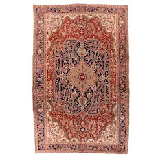 Hand Knotted Persian Serapi Wool Circa 1890, SIZE: 8'7'' x 12'4''