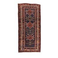 Antique Red Kazak Russain Area Rug Wool Circa 1890, SIZE: 5'7'' x 11'11''