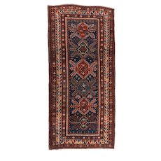 Antique Red Kazak Russain Area Rug Wool Circa 1890, SIZE: 5'7'' x 11'11''