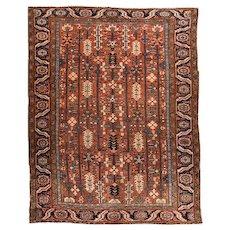 Antique Rust Heriz Persian Area Rug Wool Circa 1910, SIZE: 8'6'' x 10'11''