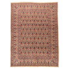 Hand Knotted Persian Tehran Zele Sultan Wool Circa 1910, SIZE: 8'6'' x 11'9''