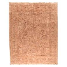 Excellent Beige Pak Tabriz Persian Design Pakistani Area Rug Wool Circa 1970, SIZE: 11'0'' x 15'0''