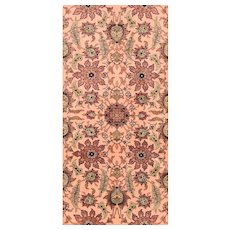 "Extremly Fine Antique Turkish Rug  Herekeh Poetry Hand Knotted Circa 1920, Size 2'10"" x 4'7"""