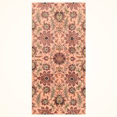 """Extremly Fine Antique Turkish Rug  Herekeh Poetry Hand Knotted Circa 1920, Size 2'10"""" x 4'7"""""""