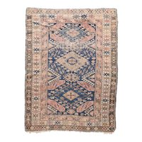 Antique Ivory Shirvan Russian Area Rug Wool Circa 1890, SIZE: 3'11'' x 5'1''