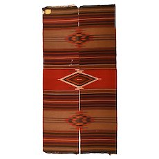 Fine Antique American Indian Kilim Narrow Runner Circa 1900, SIZE: 2'2'' x 8'11''