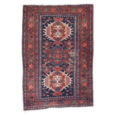 Fine Antique Karajeh Heriz Persian Rug, Hand Knotted, Circa 1910, Size 3' x 5'