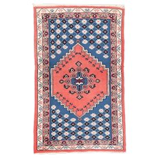 Semi Antique Rust Moroccan Area Rug Circa 1940, SIZE: 3'0'' x 4'10''