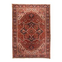 Fine Antique Persian Heriz Rug Circa 1920, SIZE: 9'6'' x 13'5''