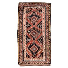 Fine Antique Persian Kurdish Tribal Rug Circa 1890, SIZE: 4'8'' x 9'9''