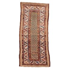 """Fine Antique Bakshayesh Tribal Persian  Runner Rug, Hand Knotted, Circa 1890, Size 3'8"""" x 8'3"""""""