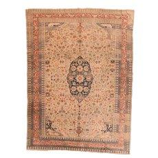 Antique Turkish Area Rug 100% Wool Circa 1890, SIZE: 8'7'' x 11'8''