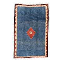 Fine Vintage Persian Gabbeh Wool Circa 1950, SIZE: 5'2'' x 8'5''