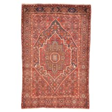 Fine Semi Antique Persian Bijar Circa 1950, SIZE: 3'11'' x 6'1''