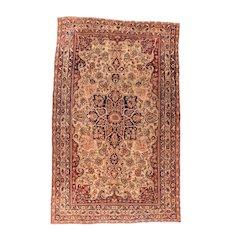 Antique Persian Lavar Kerman Area Rug
