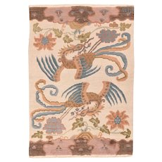 Fine Vintage Tibetan Rug Circa 1960, SIZE: 4'2'' x 6'0''