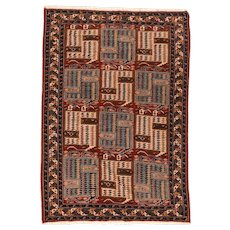 Hand Knotted Persian Ghochan Wool Circa 1940, SIZE: 4'5'' x 6'7''