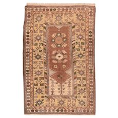Fine Vintage Turkish Tribal CIRCA 1950, SIZE: 4'0'' x 6'6''