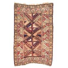Vintage Caucasian Area Rug