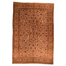 Hand Knotted Persian Kashan Wool Circa 1920, SIZE: 7'3'' x 10'5''