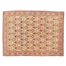 "Antique Persian Tehran, Hand Knotted, Circa 1920,  Size 4'9"" x 6'8"""