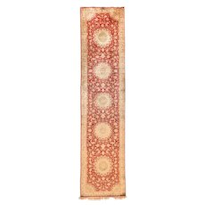 Extremely Fine Persian Silk Qum Long Rug