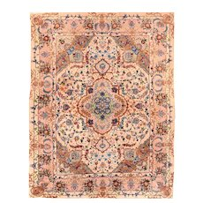 """Fine Persian Tabriz Rug Hand Knotted Circa 1970's, Size 5'0"""" x 8'0"""""""