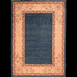 Vintage Beige Persian Tribal Gabbeh Area Rug Circa 1970 SIZE: 4'9'' x 6'8''
