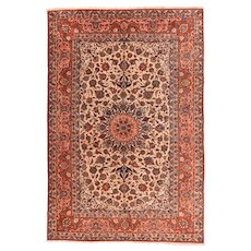 Hand Knotted Persian Isfahan Wool Circa 1920, SIZE: 7'0'' x 10'5''