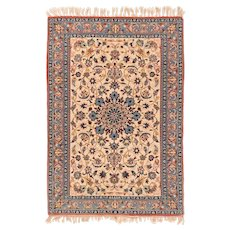 Extremely Fine Persian Isfahan Area Rug