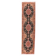 Extremely Fine Persian Tabriz Long Rug