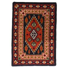 Fine Vintage Turkish Traditional Rug, Hand Knotted, Circa 1940's, Size 2' x 3'