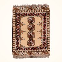 """Fine Vintage Bokhara Pakistan Rug, Hand Knotted, Circa 1960's, Size 1'10"""" x 2'3"""""""