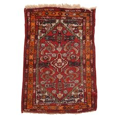 "Fine Vintage Hamedan Persian Rug, Hand Knotted, Circa 1950's, Size 1'10"" x 2'8"""