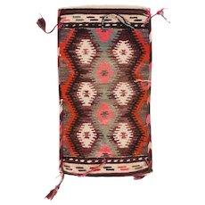 """Fine Vintage Klim Turkish, Hand Knotted, Flat Weave, Circa 1940's, Size 1'2""""x2'5"""""""