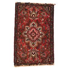 """Fine Vintage Hamedan Persian Rug, Hand Knotted, Circa 1950's, Size 1'5"""" x 2'"""