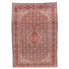 Hand Knotted Persian Tabriz Senneh Weave Wool Circa 1890, SIZE: 7'7'' x 10'8''
