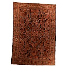 Hand Knotted Persian  Sarouk Wool Circa 1910, SIZE: 6'2'' x 9'0''