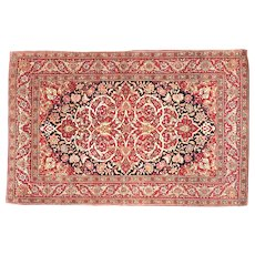 "Antique Persian Tehran , Hand Knotted, Circa 1900, Size 4'8"" x 7'4"""
