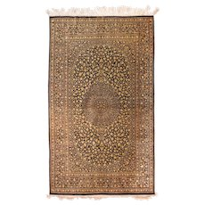 Extremely Fine Persian Silk Qum Area Rug