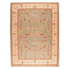 Vintage Beige Sumak Manchoria/Russian Area Rug Wool Circa 1970 SIZE: 12'0'' x 9'0''