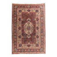 Hand Knotted Persian Tabriz Wool & Silk Circa 1890, SIZE: 7'8'' x 11'5''