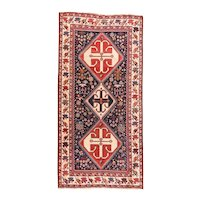 Elegant Vintage Persian Area Rug Wool Circa 1930, SIZE: 5'3'' x 10'0''