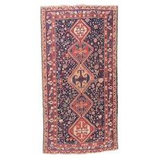 Fine Antique Persian Qashqai Wool on Wool Circa 1910, SIZE: 5'3'' x 9'5''