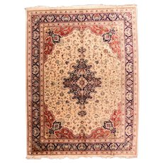 Extremely Fine Hand Knotted Persian Silk Qum