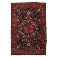 Antique Red Bidjar Persian, Hand Knotted Area Rug Wool Circa 1900, SIZE: 4'6'' x 6'7''