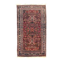 """Extremly Fine Antique Persain Nain Toudeshk Rug, HanD Knotted, Circa 1890, Size 4'9"""" x 8'5"""""""