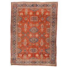Beautiful Hand Knotted Persian Malayer Wool Circa 1900, SIZE 7'2'' x 10'0''